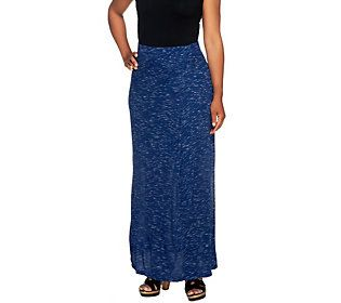 853126f7fb Lisa Rinna Collection Petite Long Skirt w/ Draped Front — QVC.com ...