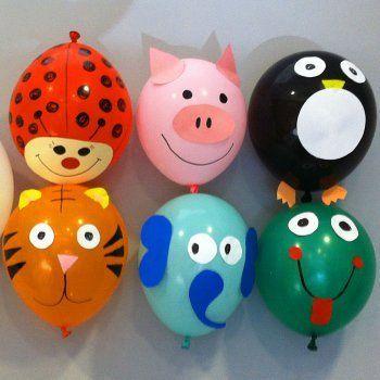 Como decorar globos con formas de animales con los niños Decoración - imagenes de decoracion con globos