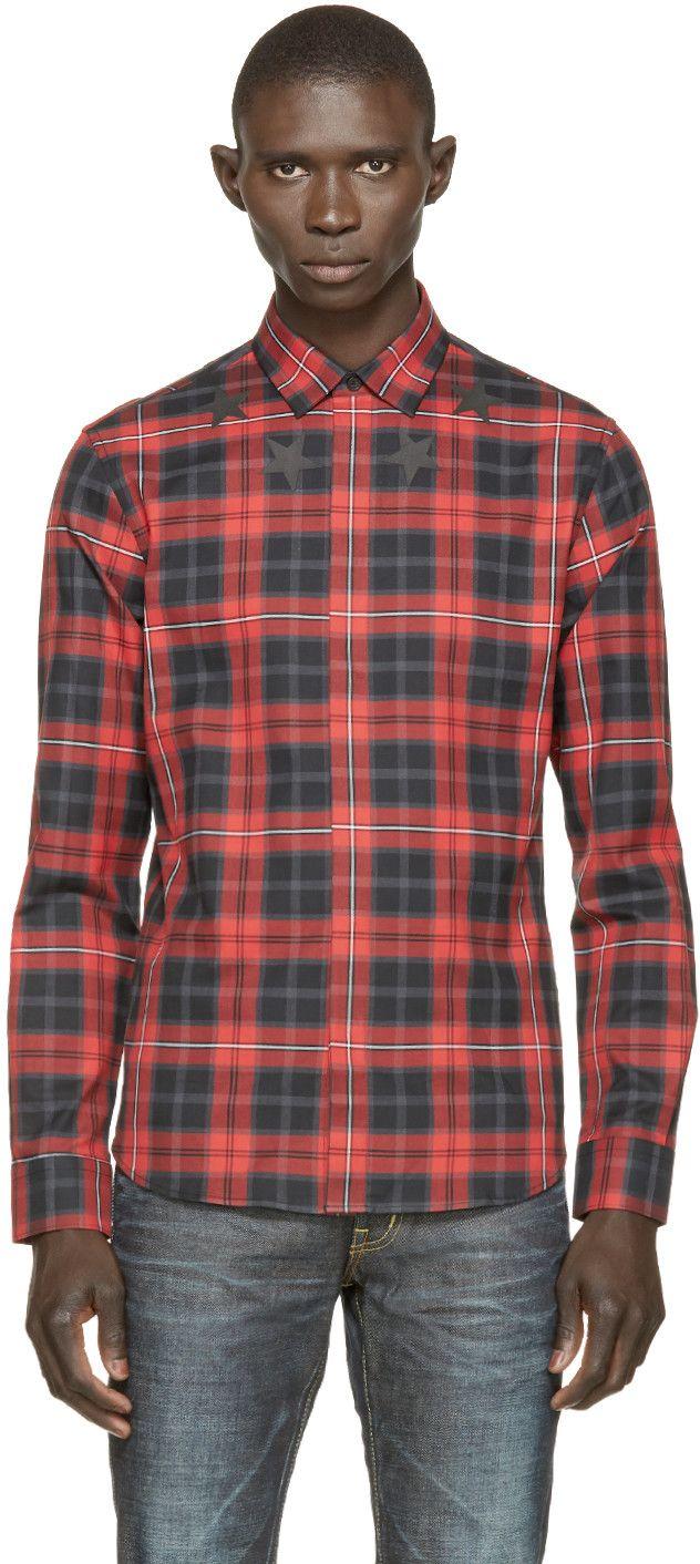 fb8d2cf7e89e GIVENCHY Red   Black Plaid Shirt.  givenchy  cloth  shirt