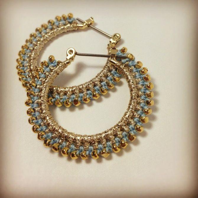 Gehäkelte Perlenohrringe #Gehäkelte #Perlenohrringe #crochetedearrings