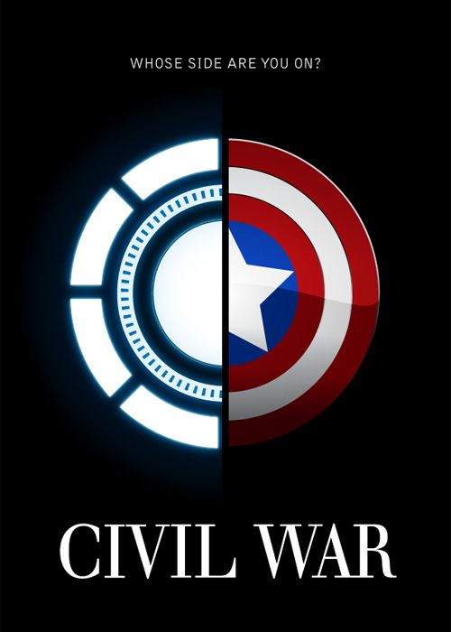 The Marvel Civil War Whose Side Are You On I M With The