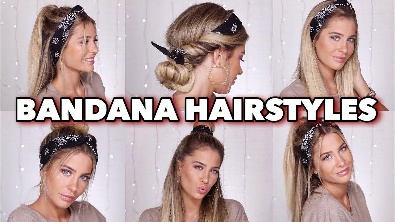 5 super easy bandana hairstyles | mrs bella | hair/buty in