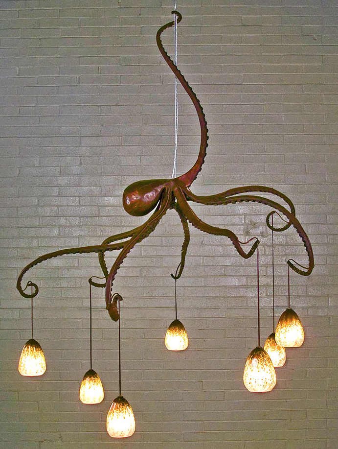 Super Cool Octopus Hanging Light For The Home Pinterest - Cool suspended lamps shaped like houses