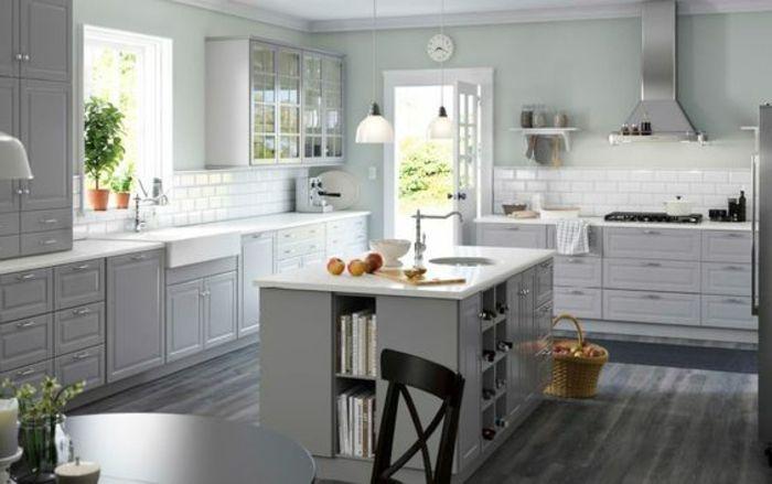 ▷ 1001+ ideas de decorar vuestra cocina blanca y gris | Cocina ...