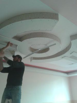 Gypsum Board Circle Designs False Ceiling Design