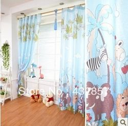 Online Shop Blue Elephant Cartoon Curtains for Children Kids Girl room modern design cortinas ikea :a0104|Aliexpress Mobile