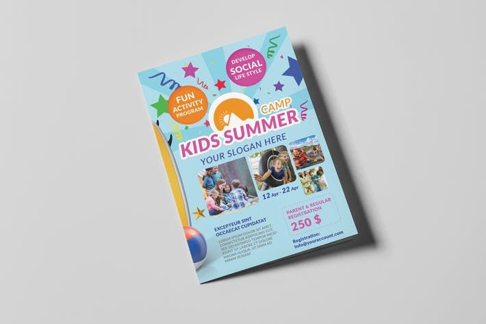 Kids Summer Camp A Brochure Template By Wutip Art Design - A5 brochure template
