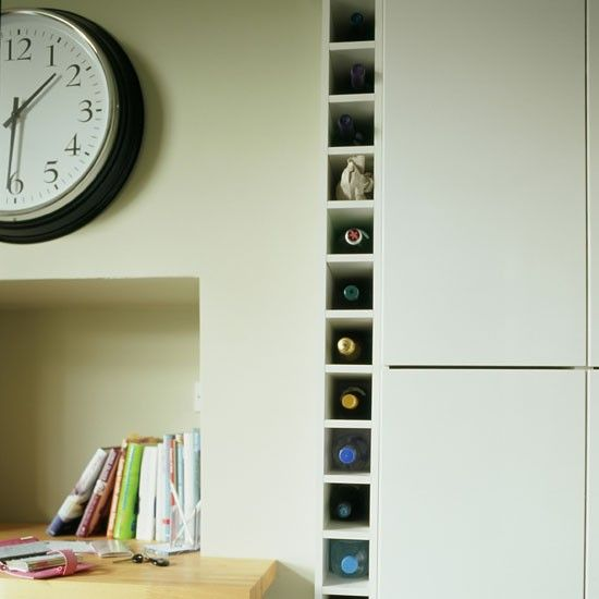 Fitted Wine Rack | Small Kitchen Design | PHOTO GALLERY | Beautiful Kitchens  | Housetohome.