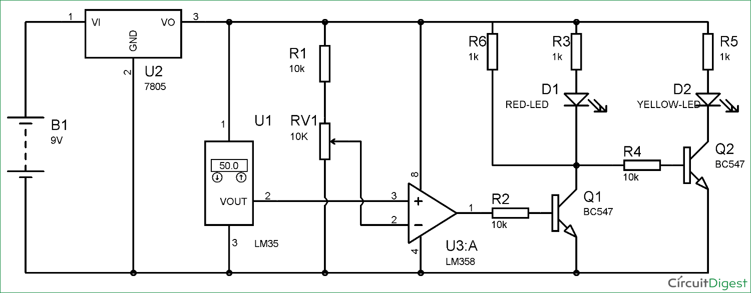 medium resolution of battery charger temperature sensor circuit with lm35 ic schematics circuit diagrams battery charger temperature sensor circuit with lm35