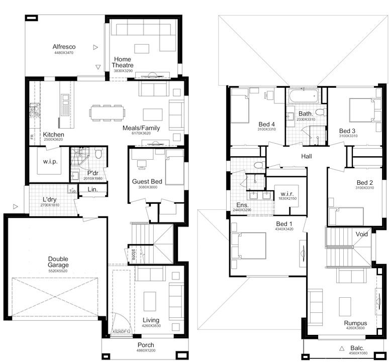 Trinity 31 Better Built Homes Double Storey House Plans Square House Plans House Layout Plans