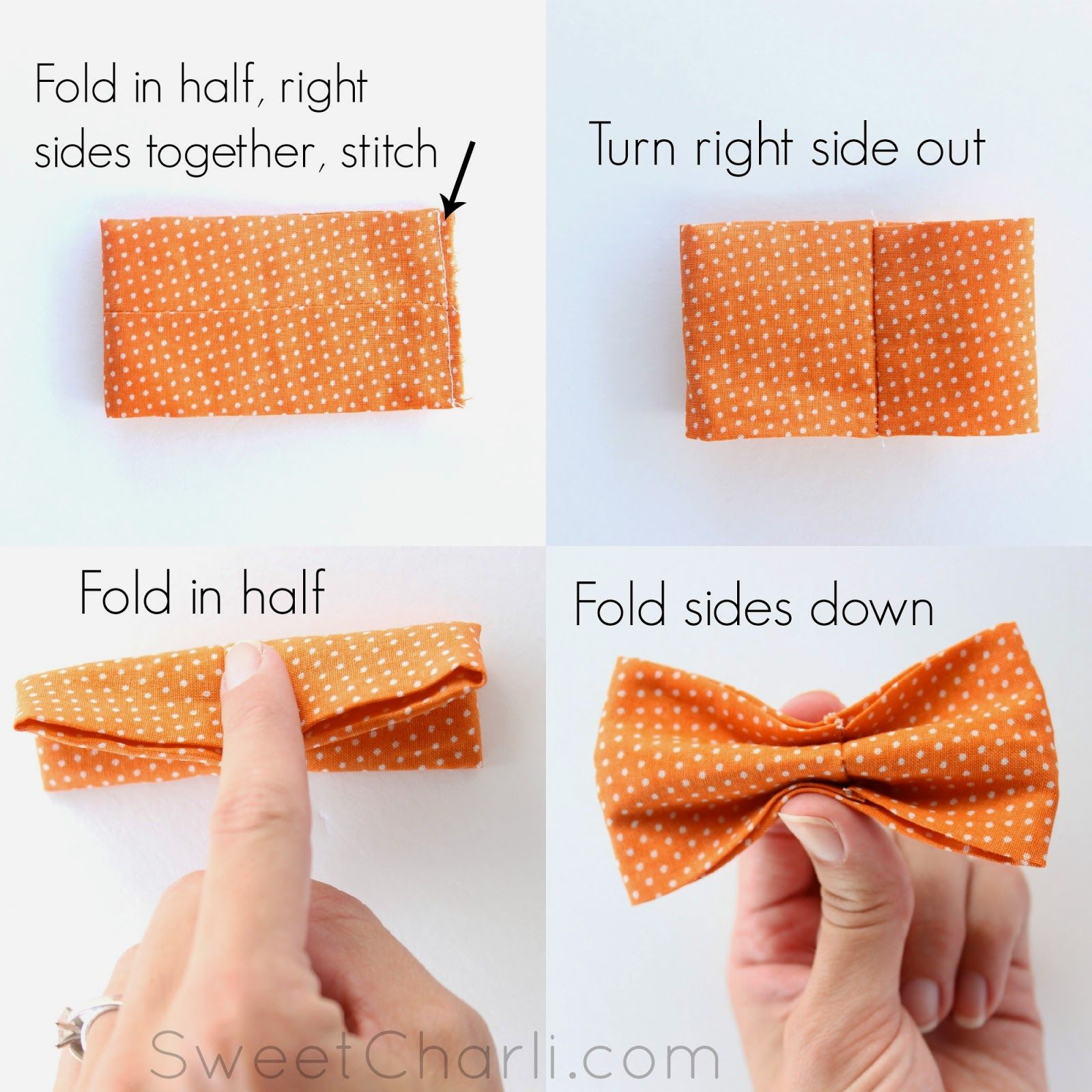 diy simple bow tie sewing