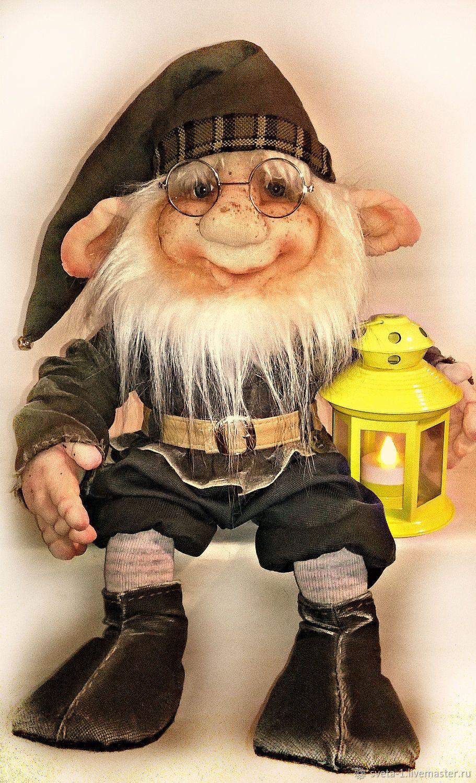 Купить ГНОМ - коричневый, гном, кукла в подарок, сказочный ...