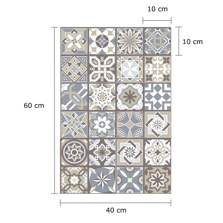 Limestone Spanish Tile 10cm X 10cm Spanish Tile Blue Wall Stickers Fancy Tile