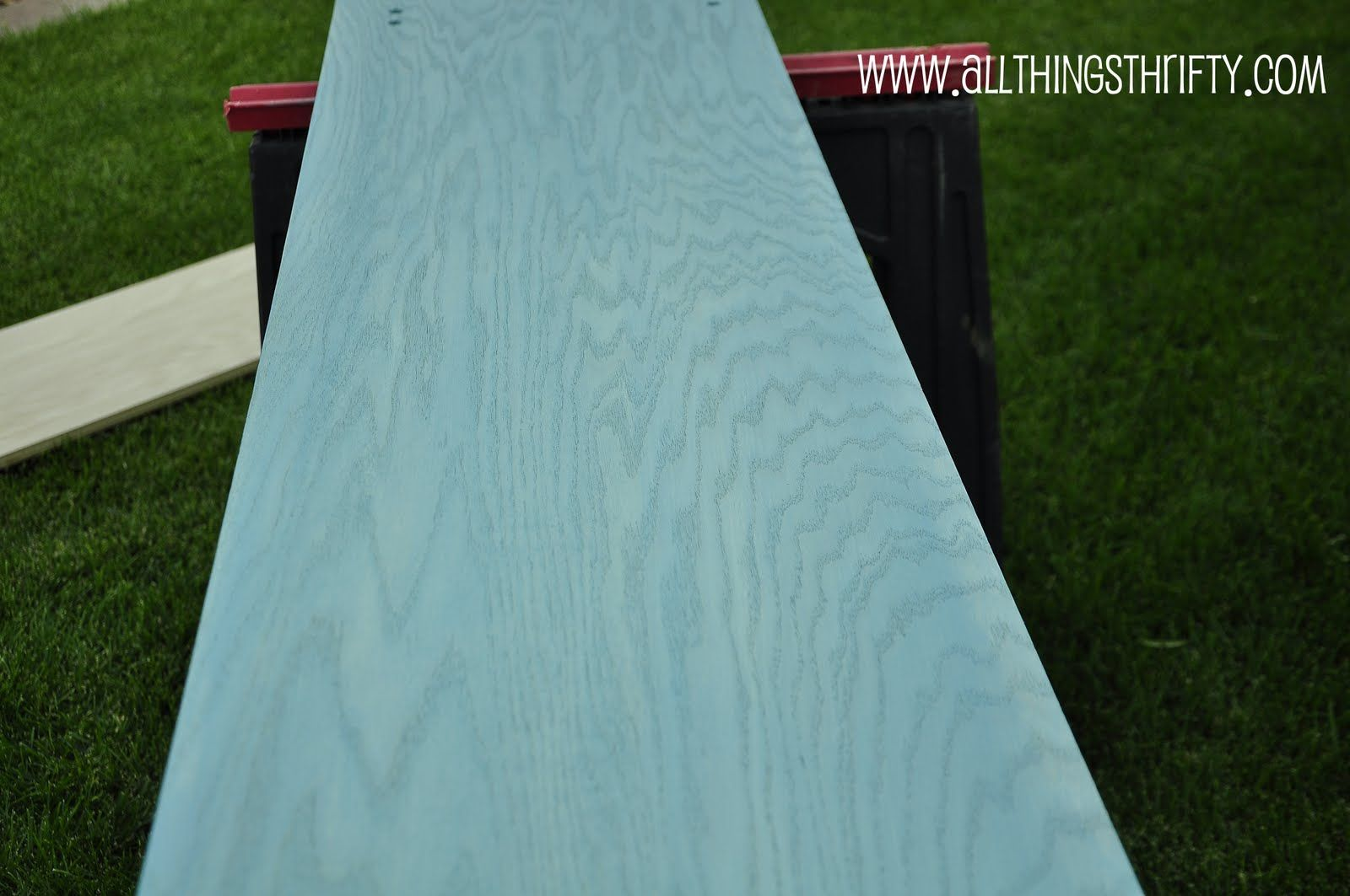 Tutorial White Washing But With Color Washed Wood Blue Stain