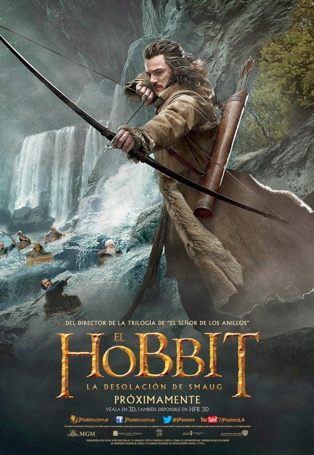five new international posters for the hobbit: the desolation of