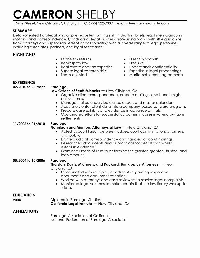 25 Entry Level Paralegal Resume in 2020 Cover letter for