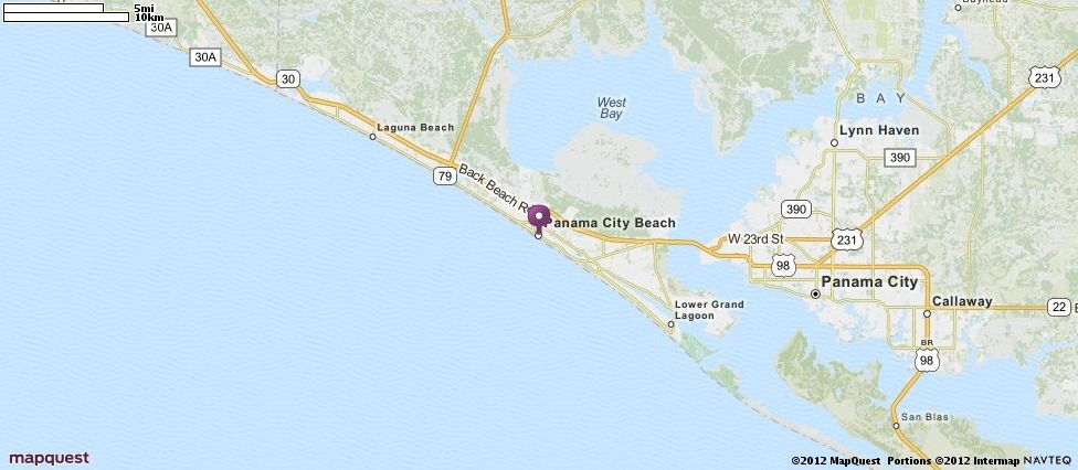 Laguna Beach Florida Map.Panama City Beach Fl Map Mapquest Places I D Like To Visit