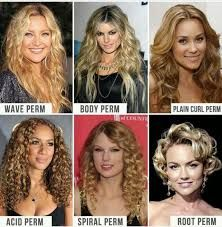 Image Result For Different Types Of Perms Chart