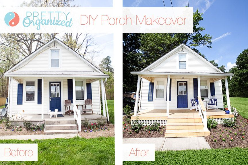 diy porch a pretty porch for pennies how to build a wooden deck