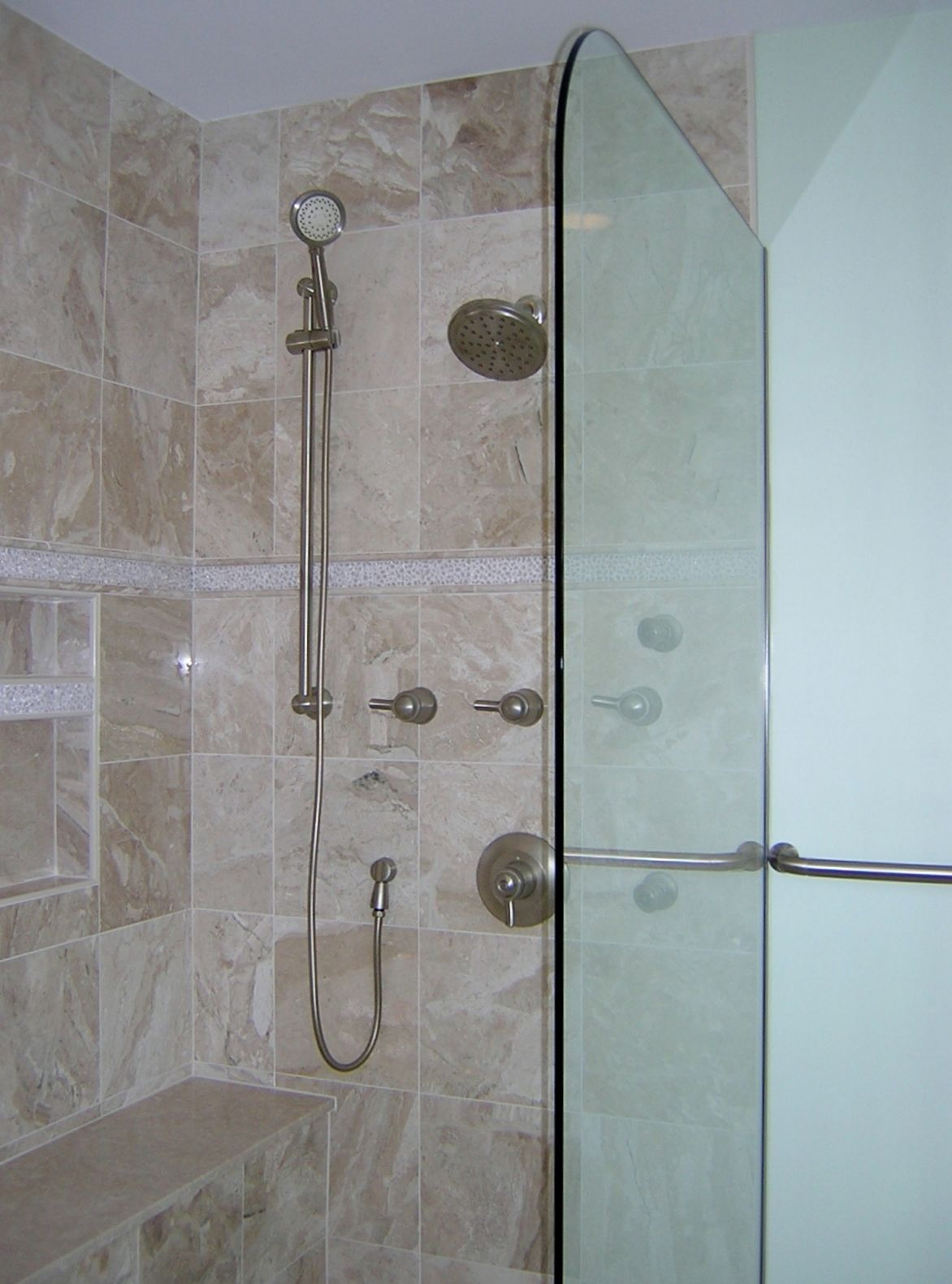 Half shower door | OUR BATHROOM REMODELS | Pinterest | Shower doors ...