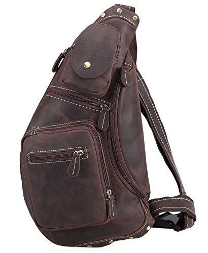 Polare Cool Real Leather Cross Body Sling Bag Chest Bag Backpack Large   To  view further for this item b824657e4dcfe