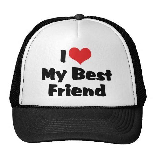 I Love Heart My Best Friend Bff Trucker Hat Zazzle Com Trucker Hat Hats Baseball Hats