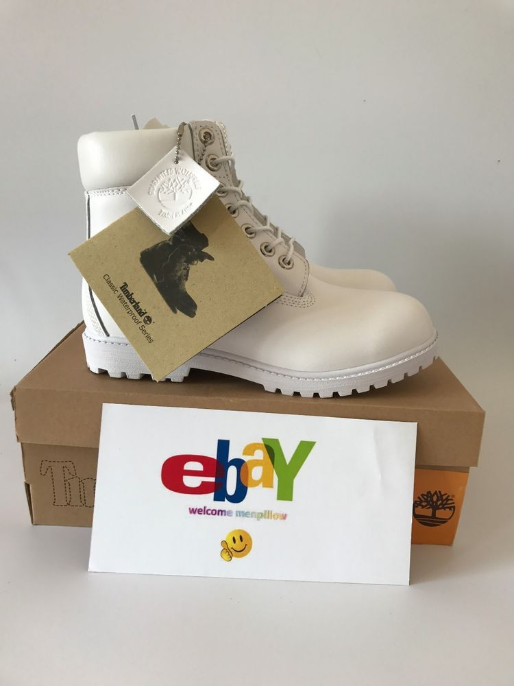 13d5daed48c Timberland 6 Inch Classic Premium 10061 Men's Waterproof Boot Leather All  White #Timberland #SnowWinter