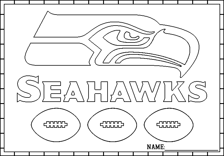 Seattle Seahawks Logo Coloring Pages | Symbol Coloring Pages ...