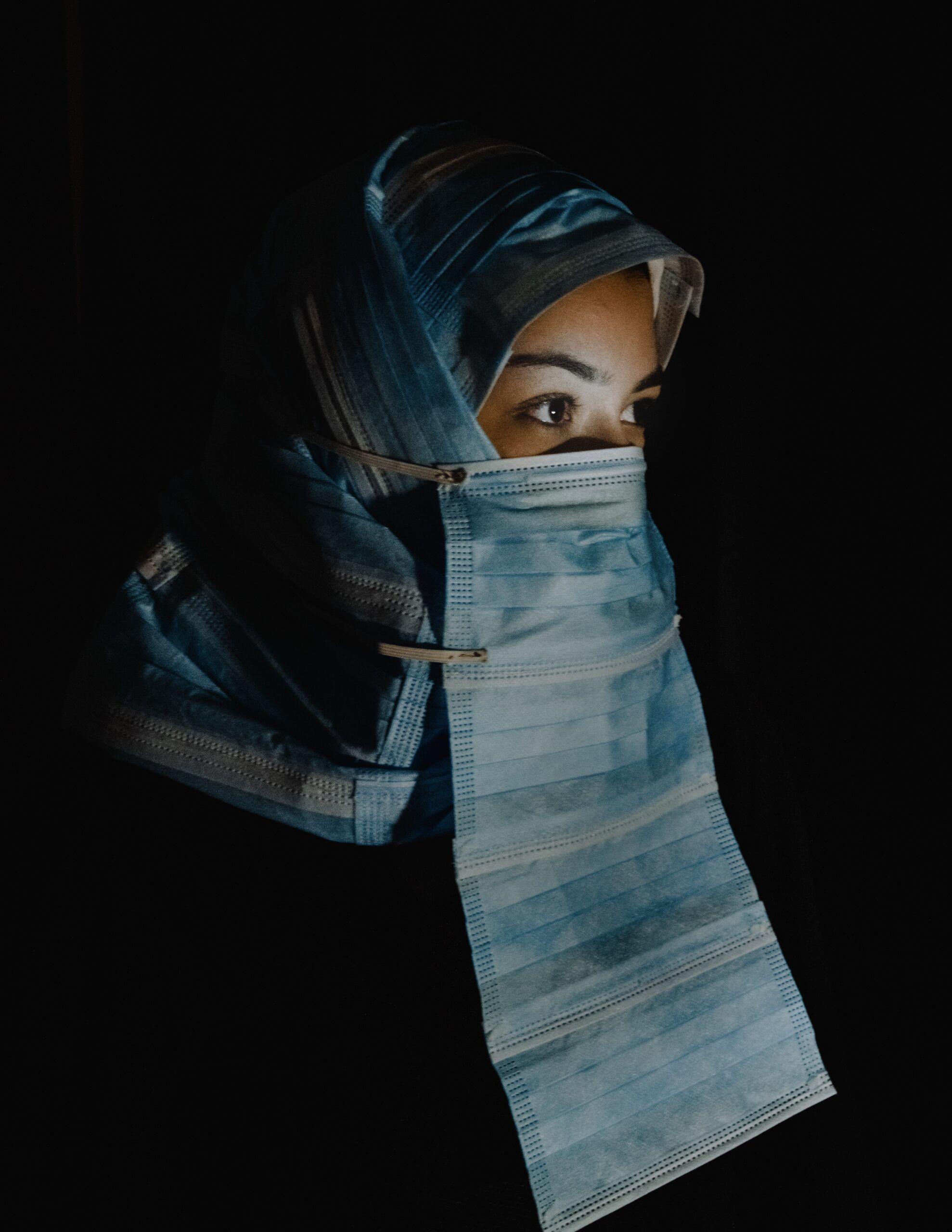 """Legal Burka"" by Ersem Erçil on a model in the Netherlands | (AA Photo)"