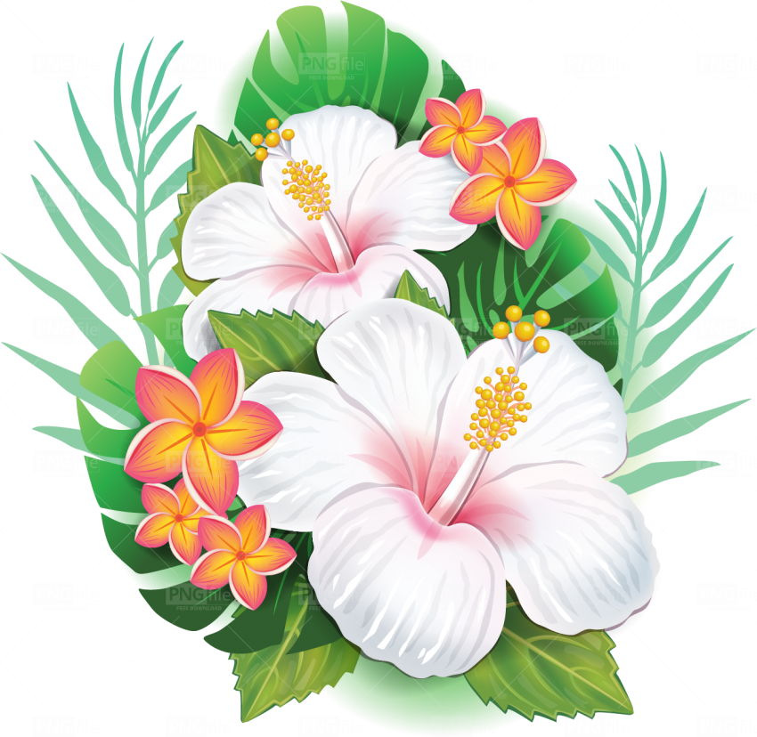Tropical Flower Png Free Download in 2020 Tropical
