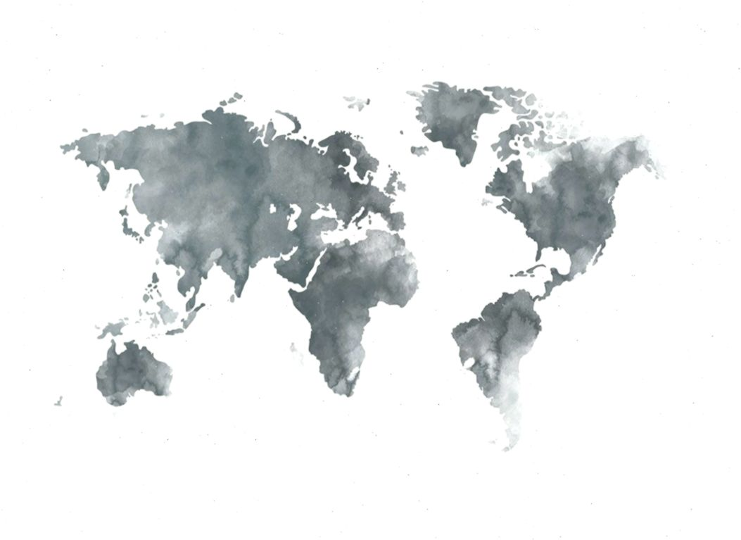 World Map Grey Poster World Map Painting Poster Prints Map
