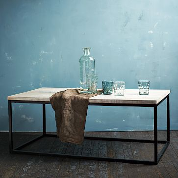 Box Frame Coffee Table WestElm They used to have this in marble