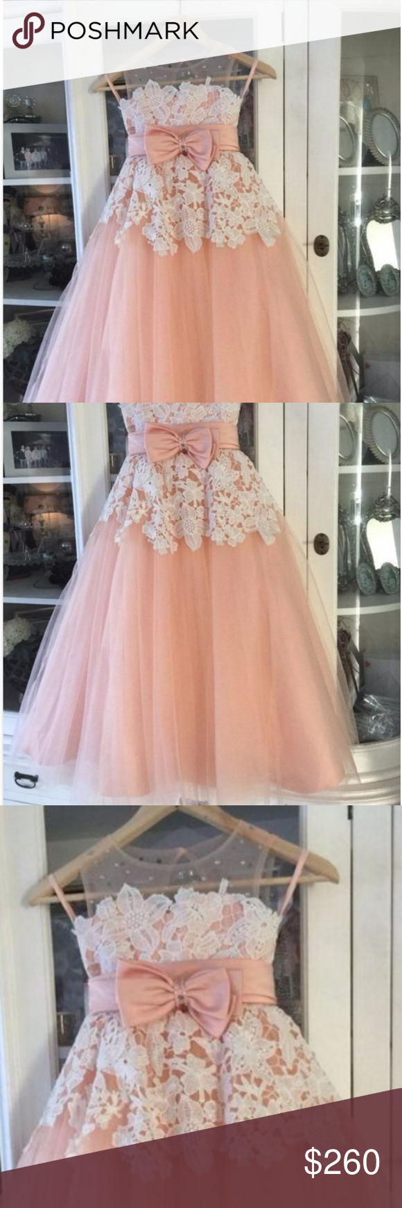 be05f518dfe 4 flower girl dress A-line round neck blush tulle dress with applique  beading. Please see photos for further description. See color chart B for  colors ...