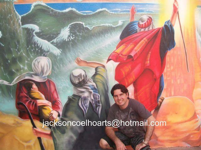 mar vermelho se abrindo moisés pinturas em igrejas pinterest