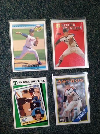 Four Nolan Ryan Baseball Cards 1 1992 Donruss Highlights 2 1988