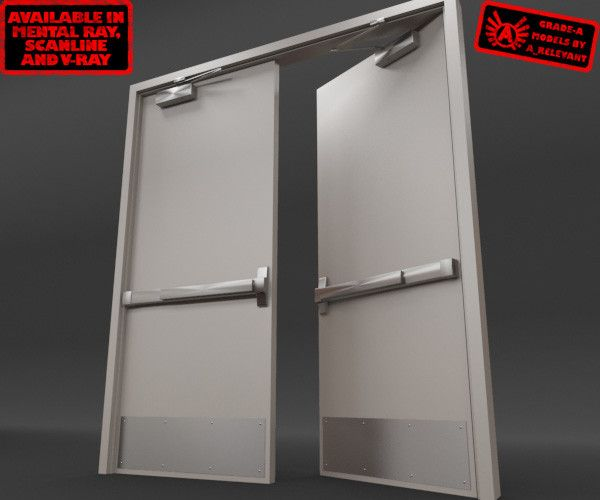 Metal Double Doors push bar double door - google search | crash bar door | pinterest