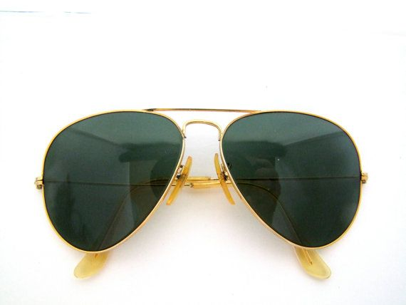 551720f9bf Sale 85 SWEET Vintage RAY Ban   Bausch and Lomb Shooters 58mm 12 Aviators  Made in USA 70s on Etsy
