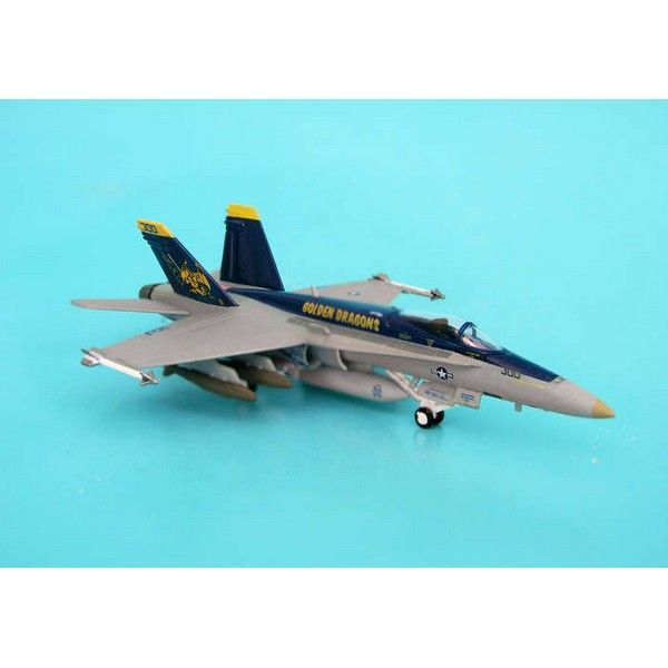 Hogan USN F/A-18C 1/200 Golden Dragons Plastic Model Aircraft