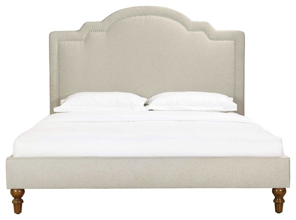 Cassis Upholstered Bed Queen Upholstered Beds Bed White Duvet
