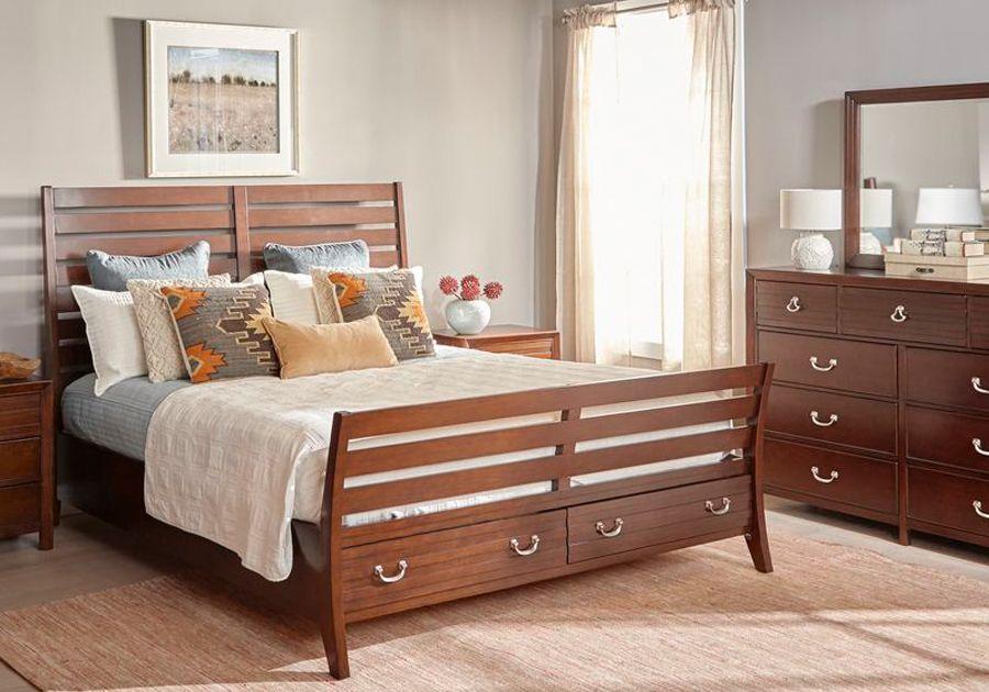 Juniper Cherry 5 Pc King Bedroom Furniture King Bedroom