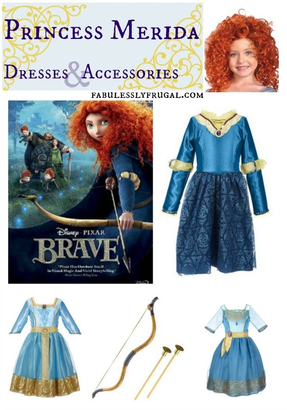 Princess Merida Dresses and More! Love the Curly Red Wig and different fun dress styles.