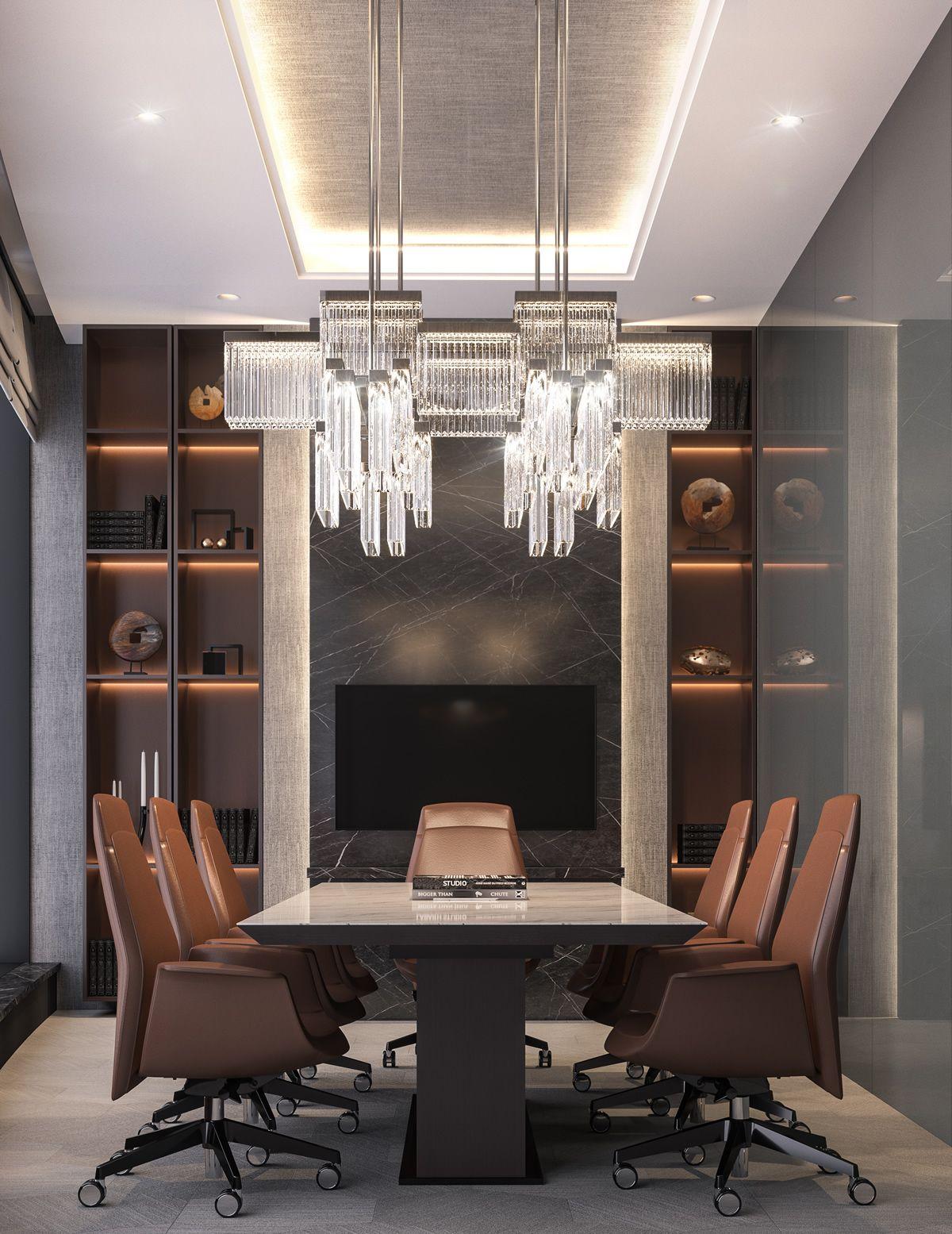 Luxury Interior Design: Modern Luxury CEO Office Interior Design