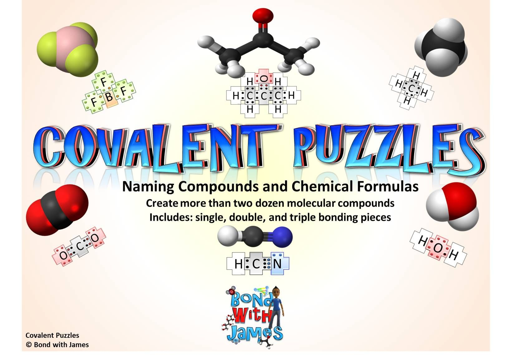 Over 2 Dozen Molecular Compounds Can Be Built With The Covalent Puzzle Pieces Allow Students