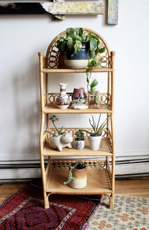 Vintage Boho Wicker Shelves In 2020 Wicker Shelf Decor Wicker Furniture