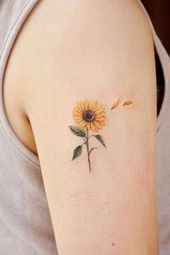 Celebrate the Beauty of Nature with these Inspirational Sunflower Tattoos - Body Art