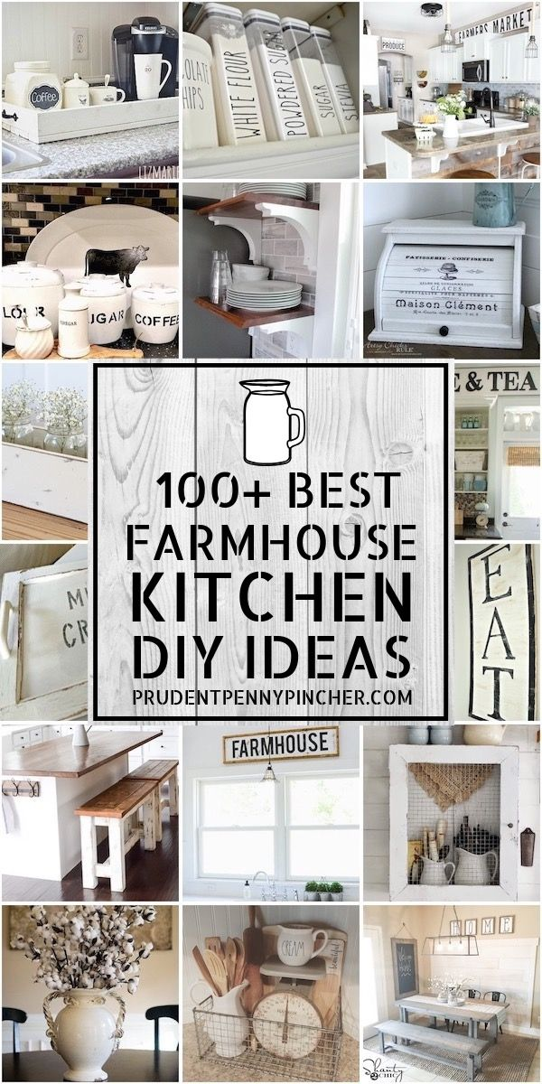 100 Best Farmhouse Kitchen DIY Ideas #farmhousekitchendecor