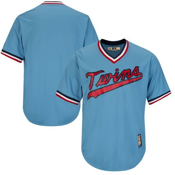 san francisco 8747c 5926f Men's Minnesota Twins Light Blue Throwback Cooperstown ...