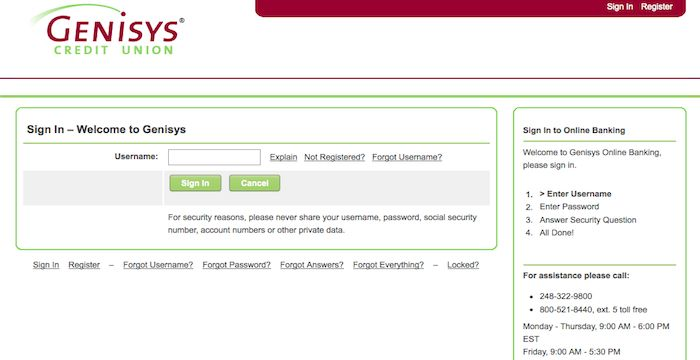 Genisys Credit Union Login | Login Archives | Login page