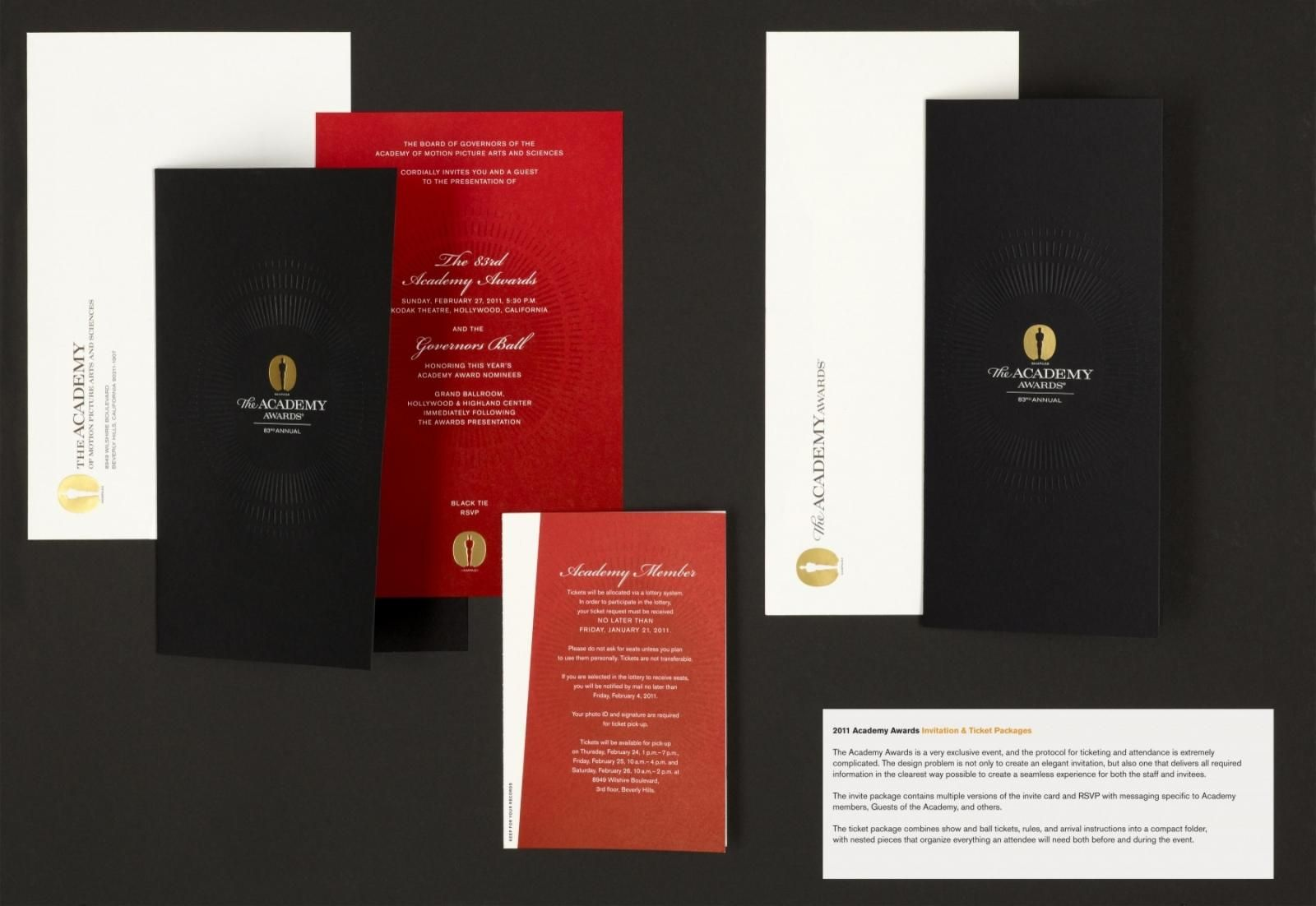 The Academy Awards Invitation Design Gala Invites Pinterest