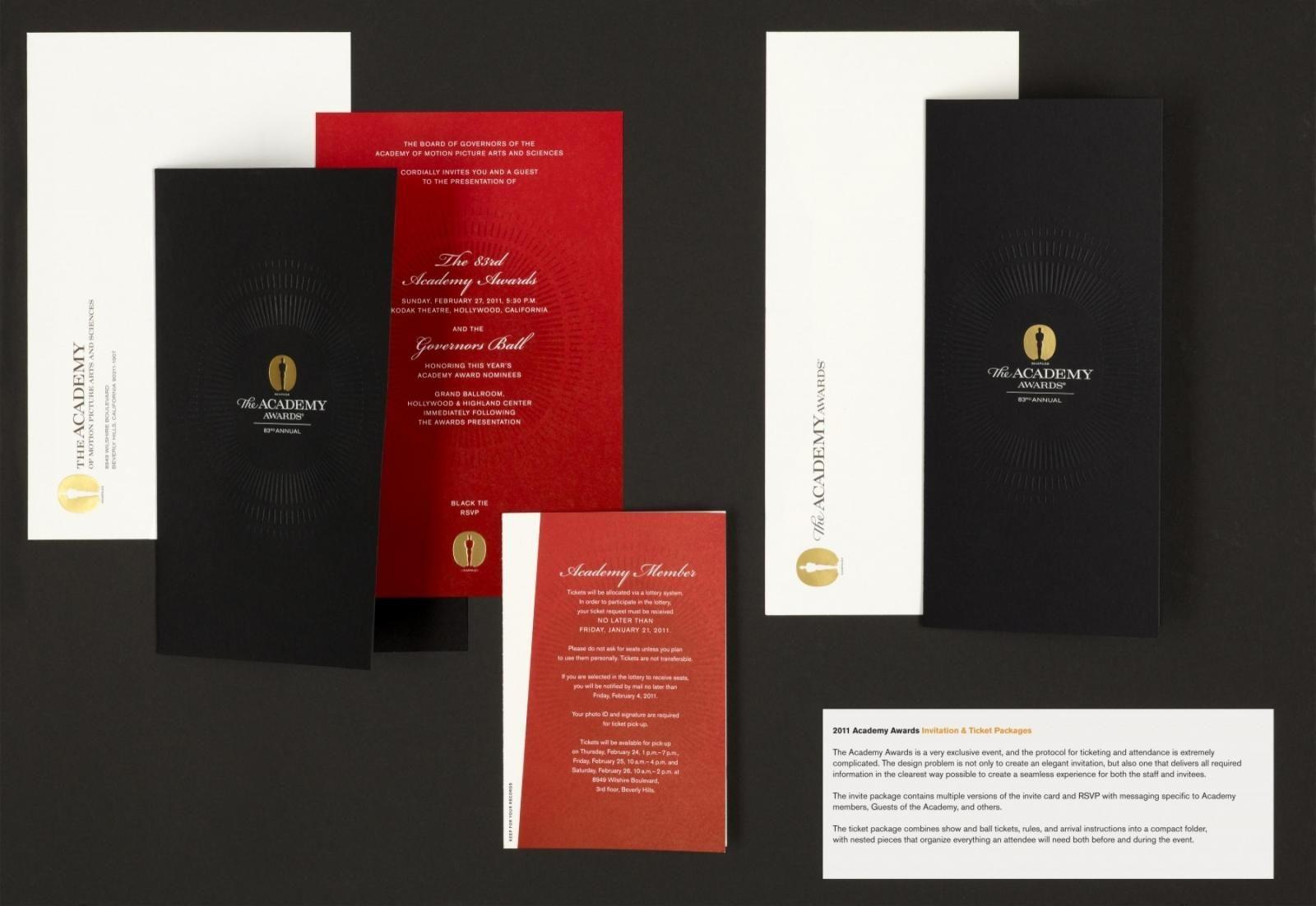 The Academy Awards invitation | Design // Gala Invites | Pinterest